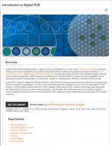 Bio-Rad Applications & Technologies Page Sample