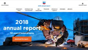 Chevron's 2018 Annual Report microsite